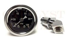 100 PSI Oil Pressure Gauge with Adapter Fitting for Shovelhead & Big Twin