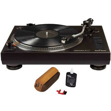 Crosley Direct Drive Turntable with S-Shaped Tone Arm Black w/ Record Cleaner