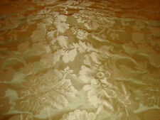 SILK SATIN DAMASK FOR UPHOLSTERY, DRAPERY, BTY, GOLD GREEN