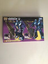 SKYWARP / THUNDERCRACKER - TRANSFORMERS ENCORE G1 MISB TAKARA (soundwave prime)