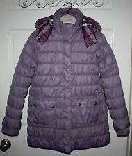 NWT Girls BURBERRY Lavender Coat Size 14 Y + Extra Bag