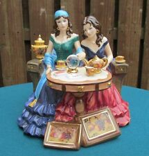 """ROYAL WORCESTER FIGURE """"LUCKY IN LOVE"""" GYPSY FORTUNE TELLER AT MID-SUMMER FAIR"""