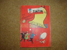 1961 Tintin Journal with Herge front & back page illustration.