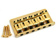 Gold Fixed Guitar Bridge for Hardtail Fender Stratocaster/Strat® SB-0100-002