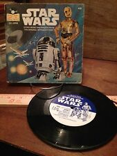 Star Wars 1979 Vintage 33 1/3 RPM Read Along Book & Record LFL Lucasfilm
