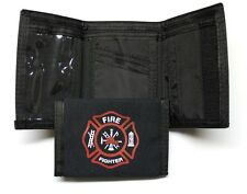 Fire Fighter Nylon Trifold Wallet - Black - NEW