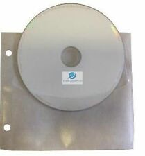 100 CD DVD Unikeep holds 2 Discs White with Flap Wallets Sleeves NEW HQ