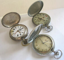 Rare Set of 3 ROSKOPF Manual Winding Pocket Watch, All Working, Swiss Made 40's