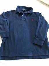 Polo Ralph Lauren boys cotton solid blue long sleeve collared top size 5