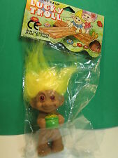 "BOY POT OF GOLD  - 3"" Lucky Troll Doll - NEW IN PACKAGE- Very Rare"
