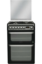 Hotpoint Ultima HUD61KS - 60cm Dual Fuel Cooker Double Electric Ovens & Gas Hob