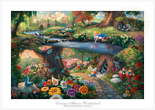 Thomas Kinkade Disney Alice in Wonderland – 12x18 S/N Limited Edition Paper