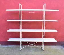 Scaffali piccola libreria Ikea Enetri White metallo legno truciolare 170x160-173