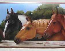 YORK HORSE HEADS HORSES RANCH Wallpaper Border 9""