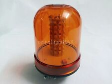 80 LED ROTATING FLASHING BEACON FLEXIBLE DIN POLE MOUNT AMBER FOR TRUCK TRACTOR