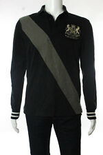 Ralph Lauren Rugby Mens Gray Cotton Long Sleeve Collared Shirt Size Small