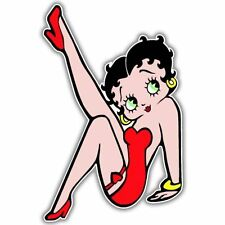 Betty Boop Red Dress Vynil Car Sticker Decal    2.5""