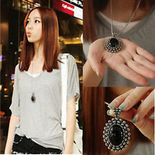 Fashion Crystal Choker Charm Jewelry Chunky Statement Bib Pendant Chain Necklace