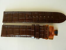 Wittnauer-Longines brown leather watch strap 21mm NEW
