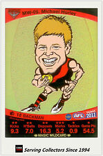 2011 AFL Teamcoach Cards Magic Wild Card MW5 Michael Hurley (Essendon)