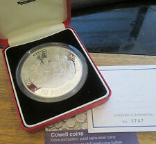RARE 2000 5OZ ALDERNEY£10 SILVER PROOF COIN BOX & COA only 1000 worldwide No-747