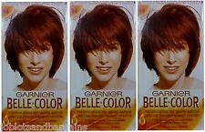 3 x Garnier Belle Color 54 Reddish Brown - Permanent Hair Colourant Dye