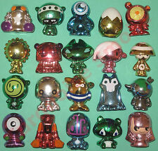 20 All Metallic Randomly Chosen Gogos Crazy Bones In Average Used Condition