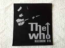 LARGE SEW (NOT IRON) ON BACK PUNK ROCK MUSIC PATCH:- THE WHO MAXIMUM R&B