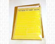 Virnex HO Decals Lt Yellow 3/8 Inches Bold Gothic Letter Set 2062 Alphabet