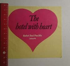 Aufkleber/Sticker: Hotel Sari Pacific Jakarta Hotel with heart (191116168)