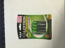 4 Lloytron AAA 550 mAh Rechargeable Batteries NiMH Phone MN2400 LR03