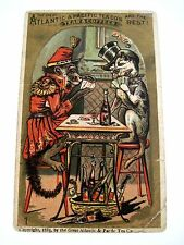 "1883 Victorian Trade Card for ""Great Atlantic & Pacific Tea Co.w/ Monkey & Dog*"