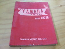 Yamaha RD200 RD 200  Factory Parts Manual list RD200A
