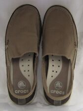 NEW CROCS MENS WALU ACCENT MEN KHAKI ESPRESSO MENS SIZE 10