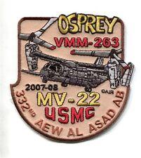 VMM-263 THUNDER CHICKENS 2007 DET USMC MARINE CORPS MV-22 Squadron Desert Patch