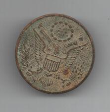 1898-1918 US Military Hat Badge with American Eagle & E Pluribus Unum