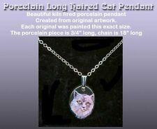 Porcelain Long Hair Cat Necklace