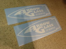 "Arrow Glass Vintage Boat Decals 12"" Die-Cut 2-PAK FREE SHIP + FREE Fish Decal"