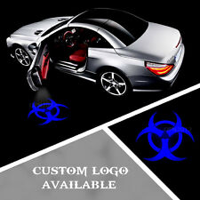 2x Cree LED Car Door Projection Road Puddle Shadow Light Logo ZOMBIE OUTBREAK 3D