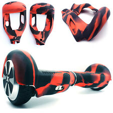 "Red/ Black Silicone Protective Cover Case For 6.5"" Balance Scooter Hoverboard"