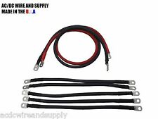 # 2 Awg HD Golf Cart Battery Cable 7 Pc Kit CLUB CAR DS IQ U.S.A MADE