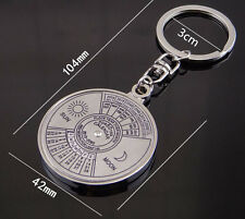 Perpetual Calendar Keyring Keychain Unique 50 Years 2010-2060 Metal Key Ring