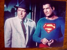 RARE STILL  SUPERMAN GEORGE REEVES   SIGNED BY ROBERT SHAYNE