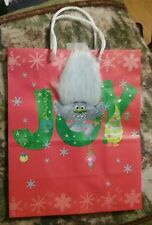 Troll CHRISTMAS GIFT BAG Medium Size BagTroll Dolls 3D Troll Hair 3D Glitter New