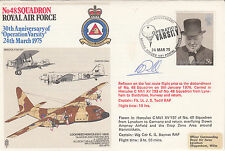 RAF32e 48 Sqn30th Anniv Operation Varsity.Reflown Hercules Signed Pilot Todd