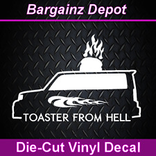Toyota Scion XB.. TOASTER FROM HELL .. Vinyl Car Decal Sticker Laptop