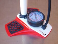 Specialized AirTool Comp Floor Pump Bicycle Bike Tire Presta Shrader Red / White