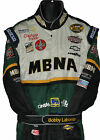 BOBBY LABONTE NASCAR MBNA VERY HEAVY COLORFUL CREW SUIT WITH HIS NAME ON BELT