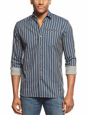 [39 72]New Tommy Bahama Men's Modern Fit Dual Tone Striped Shirt Blueberry Small