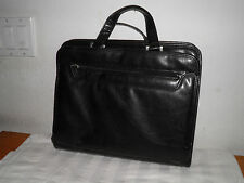Foray Genuine Black Leather Messenger Bag Work Tote Briefcase Price 2 Sell Today